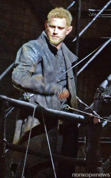 Ченнинг Татум на съемках фильма «Восход Юпитера»