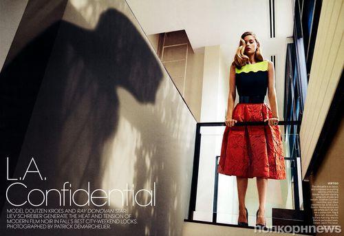 Даутцен Крез и Лив Шрайбер в журнале Vogue. Ноябрь 2013