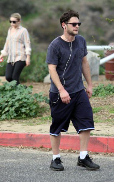 Эшли Олсен и Джастин Барта на пробежке