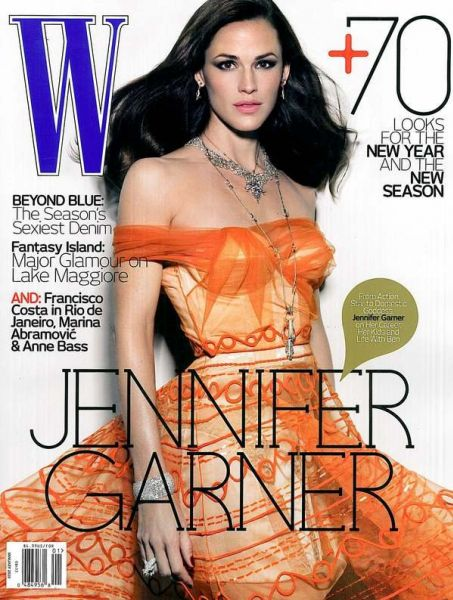 Дженнифер Гарнер в журнале W. Январь 2010