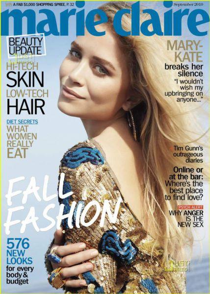 Мэри-Кейт Олсен в журнале US Marie Claire. Сентябрь 2010