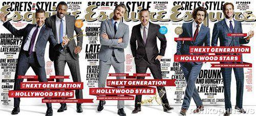 Новое поколение голливудских звезд в журнале Esquire. Сентябрь 2012