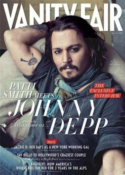 Джонни Депп в журнале Vanity Fair. Январь 2011