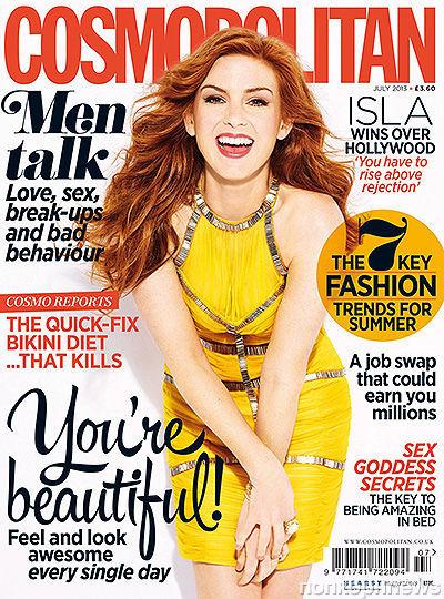 Айла Фишер в журнале Cosmopolitan Великобритания. Июль 2013