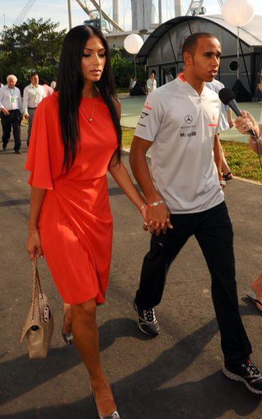 Николь Шерзингер и Льюис Гамильтон вместе в Сингапуре