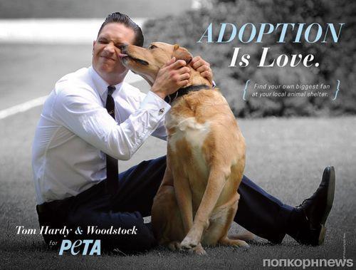 Том Харди и его собака снялись в рекламной кампании PETA