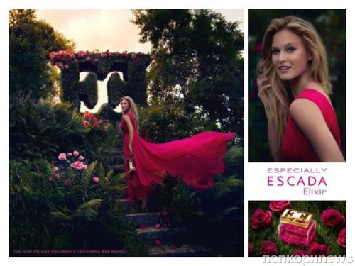 Бар Рафаэли в рекламной кампании аромата Especially Elixir от Escada