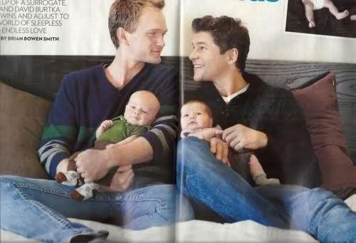 Нил Патрик Харрис показал своих новорожденных детей