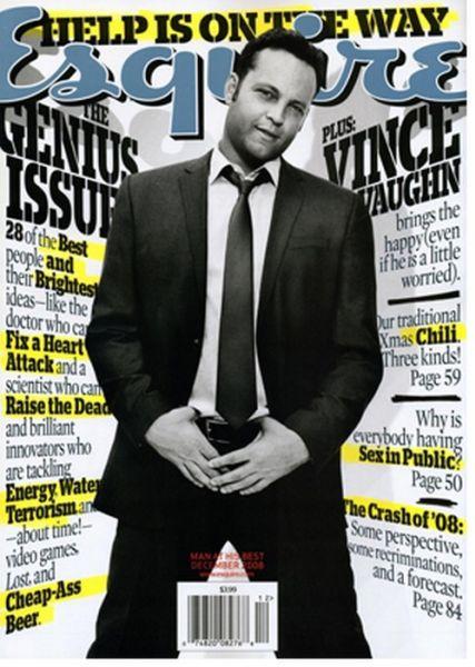 Винс Вон в Esquire Magazine. Декабрь 2008