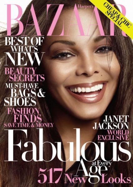 Джанет Джексон в журнале Harper's Bazaar. Октябрь 2009