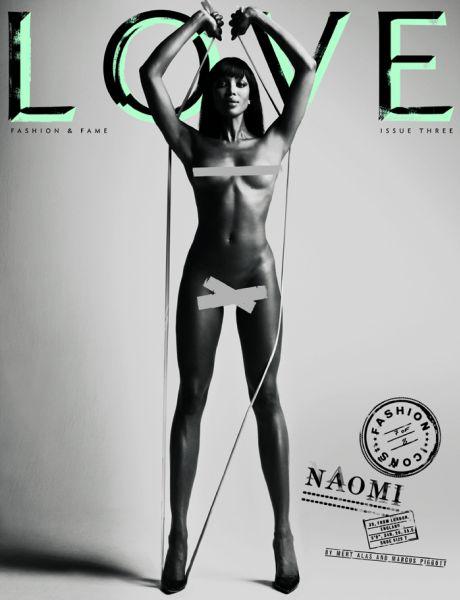 Обнаженные топ-модели для журнала Love