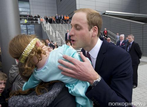 Маленькая принцесса отвергла принца Уильяма