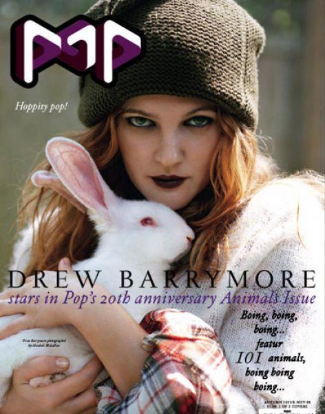 Дрю Бэрримор в журнале POP. Ноябрь 2008