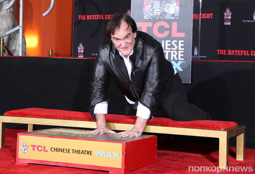 Квентин Тарантино оставил свои отпечатки на Голливудском бульваре