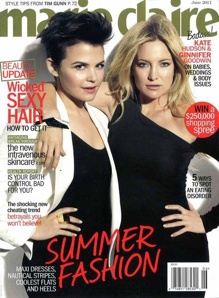Кейт Хадсон и Дженнифер Гудвин в журнале Marie Claire. США. Июнь 2011
