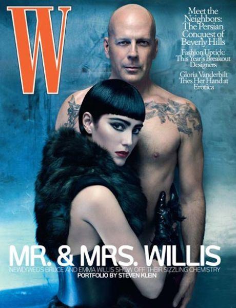 Брюс Уиллис и Эмма Хемминг в журнале W. Июль 2009