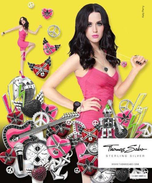 Кэти Перри в рекламе серебряных украшений Томаса Сабо