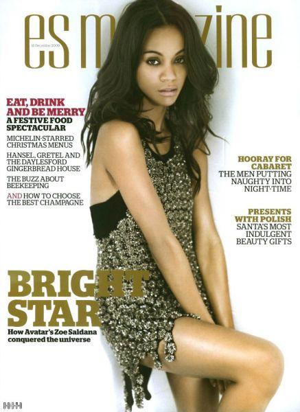 Зои Саладана в журнале ES Magazine. Декабрь 2009