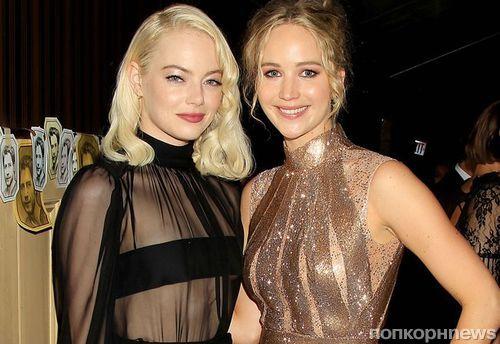 Лучшие подруги: Дженнифер Лоуренс и Эмма Стоун на афтепати премьеры «мамы!» в Нью-Йорке