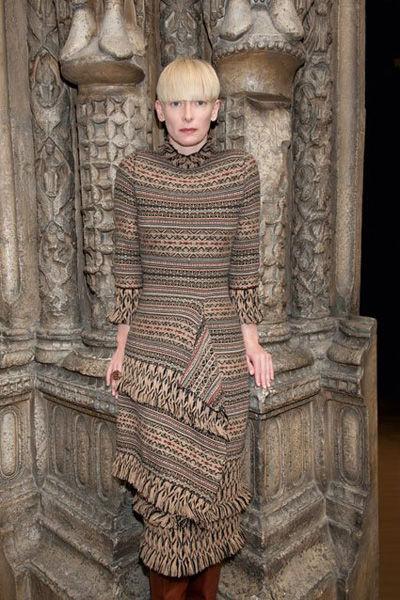 Тильда Суинтон в осенне-зимней рекламной кампании Pringle of Scotland