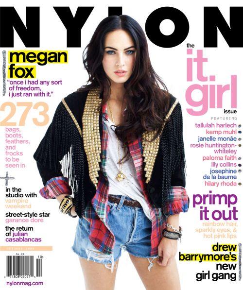 Меган Фокс в журнале Nylon. Октябрь 2009