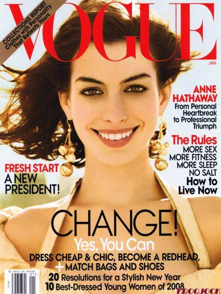 Энн Хэтэуэй в журнале Vogue. Январь 2009