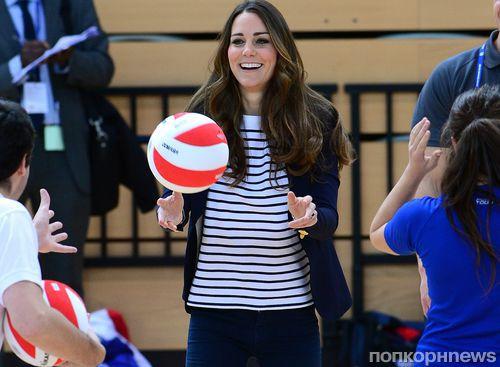Кейт Миддлтон сыграла в волейбол