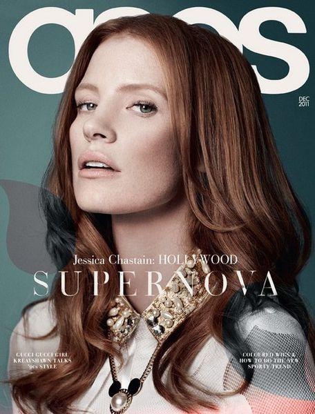 Джессика Честейн в журнале ASOS. Декабрь 2011