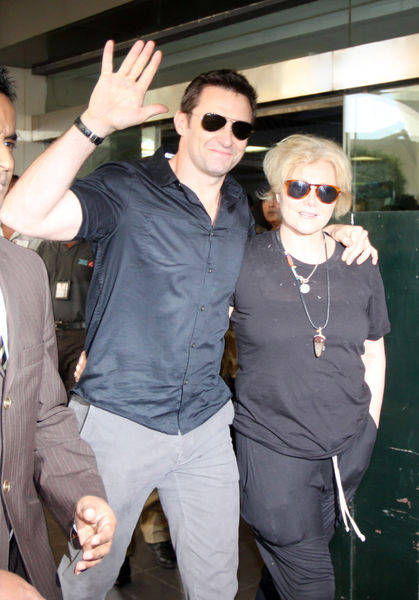 Хью Джекман с женой в Индии