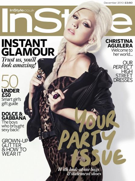 Кристина Агилера в журнале Instyle UK. Декабрь 2010