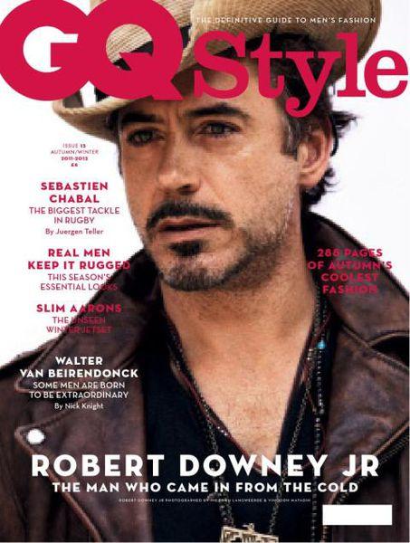 Ковбой Роберт Дауни младший в журнале  GQ Style UK. Осень/Зима