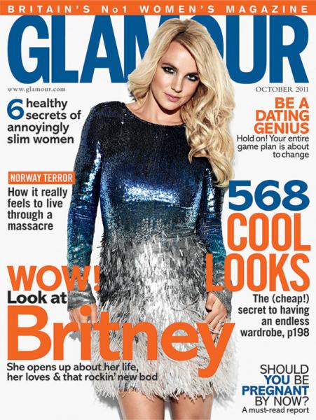 Бритни Спирс в журнале Glamour. UK. Октябрь 2011