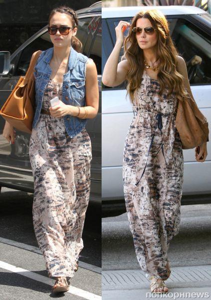 Fashion battle: Джессика Альба и Кейт Бекинсэйл