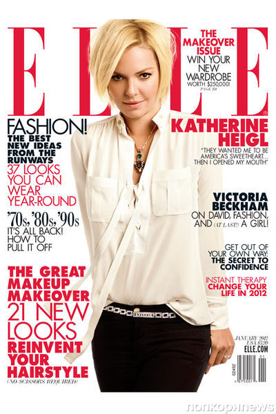 Кэтрин Хайгл в журнале Elle США. Январь 2012
