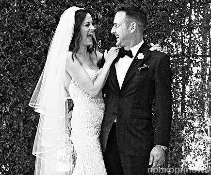 Дэвид Аркетт и Кристина МакЛарти: первое свадебное фото