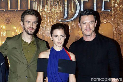 Эмма Уотсон, Дэн Стивенс и Люк Эванс представили «Красавицу и чудовище» в Париже
