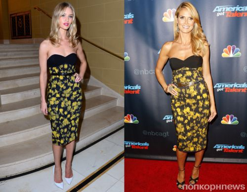 Fashion battle: Роузи Хантингтон-Уайтли и Хайди Клум