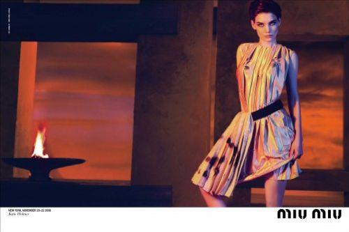 Кэти Холмс в рекламе Miu Miu  Весна/Лето 2009