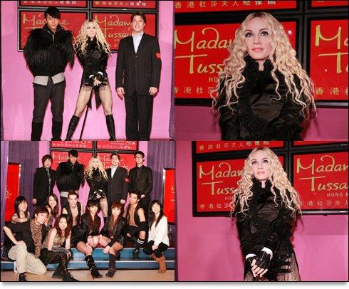 Мадонна в музее Мадам Тюссо в Гонконге