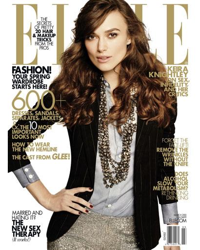 Кира Найтли в журнале Elle US. Март 2010