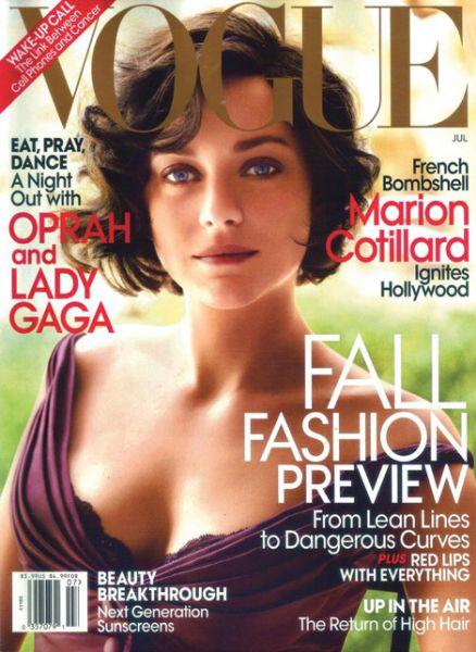 Марион Котийяр в журнале Vogue. US. Июль 2010
