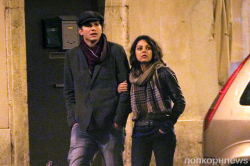 Эштон Кутчер и Мила Кунис на романтическом свидании в Риме