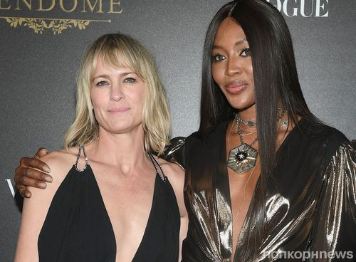 Робин Райт, Наоми Кэмпбелл, Кайли Миноуг и другие звезды на вечеринке Vogue