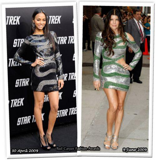 Fashion battle: Зои Салдана и Ферги