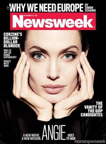 Анджелина Джоли в журнале Newsweek. Декабрь 2011