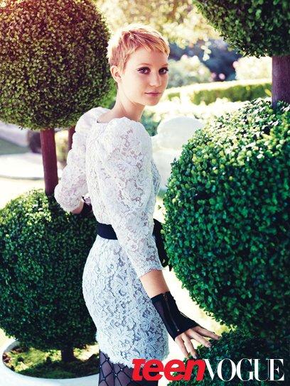 Миа Васиковска в журнале Teen Vogue. Март 2010