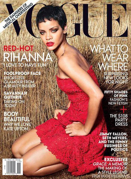 Рианна в журнале Vogue. Ноябрь 2012