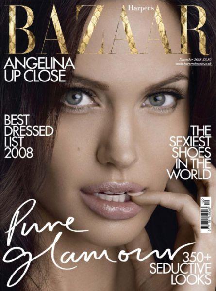 Анджелина Джоли на обложке Harper`s Bazaar