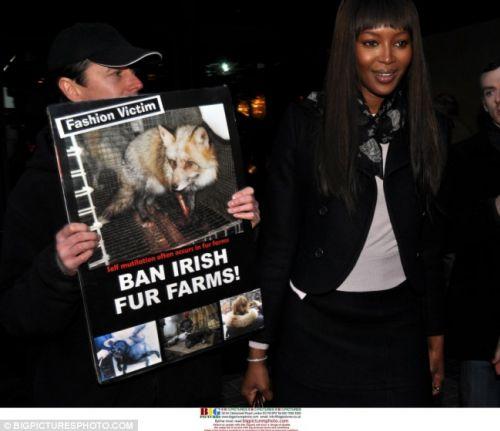Борцы за права животных против Наоми Кэмпбелл