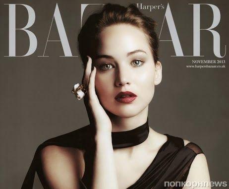 Дженнифер Лоуренс в журнале Harper's Bazaar Великобритания. Ноябрь 2013